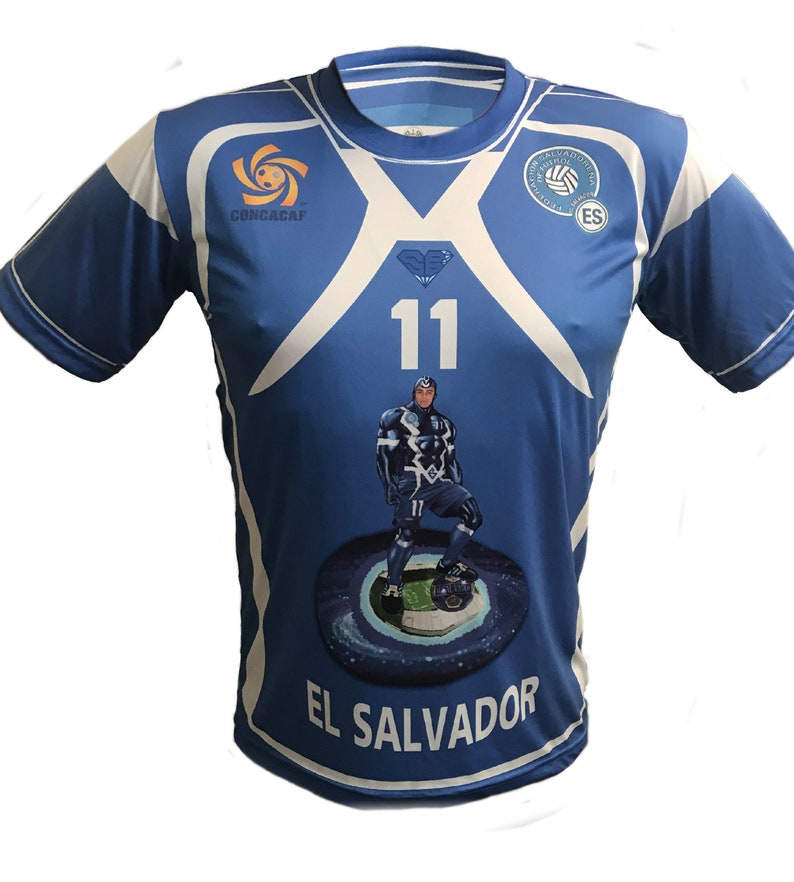 promo code f0329 f1e4d El Salvador shirt The SuperBlue Relampagueant Selecta for El Salvador  soccer Team