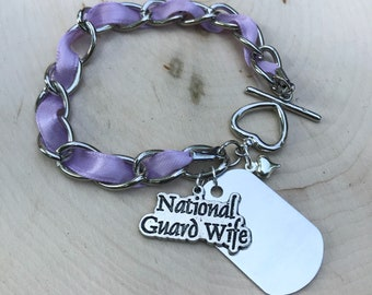 National Guard Military Bracelet/Nevklace- Personalize