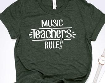a13604dc Music Teachers Rule Shirt - Music Teacher Gift - Teacher Shirts - Teacher  Tee - Funny Teacher - Teacher Appreciation