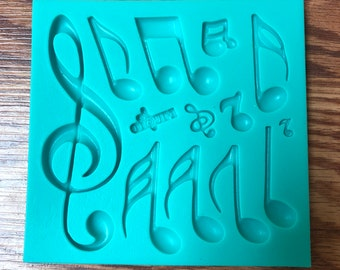 Musical Notes Chocolate Candy Mold  1295 NEW