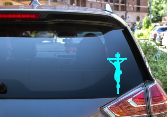 Cheap Price Fish Shaped Vinyl Adhesive Waterproof Car Sticker Jesus Car Decor Decal Exterior Accessories