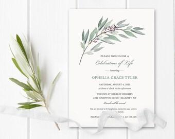 memorial invitation etsy