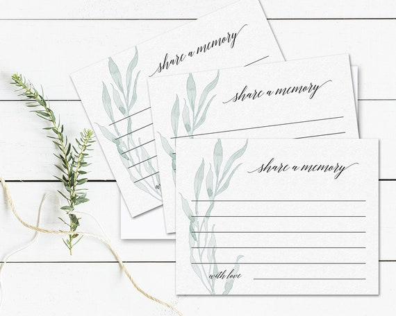 share a memory card template share a memory cards greenery etsy