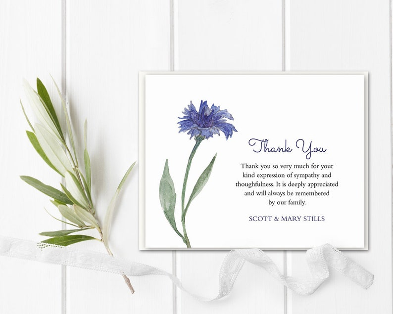 funeral acknowledgement card template sympathy thank you