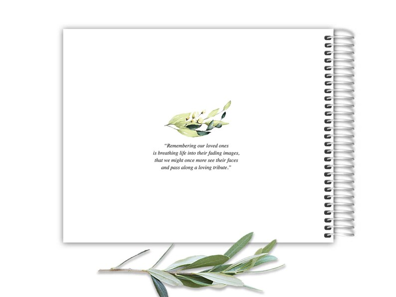 Personalized Funeral Guest Book 8.5 x 11 Photo Keepsake Celebration of Life Remembrance Guest Book Memorial GuestBook Funeral Guest book