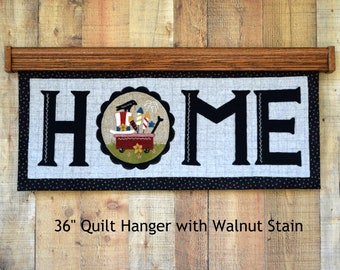 Quilt Hanger for Wall, Oak - 24 to 36""