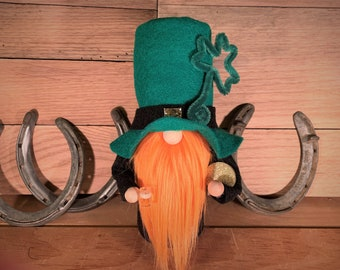 good luck charm leprechaun gnome keychain hand carved wood lucky charm