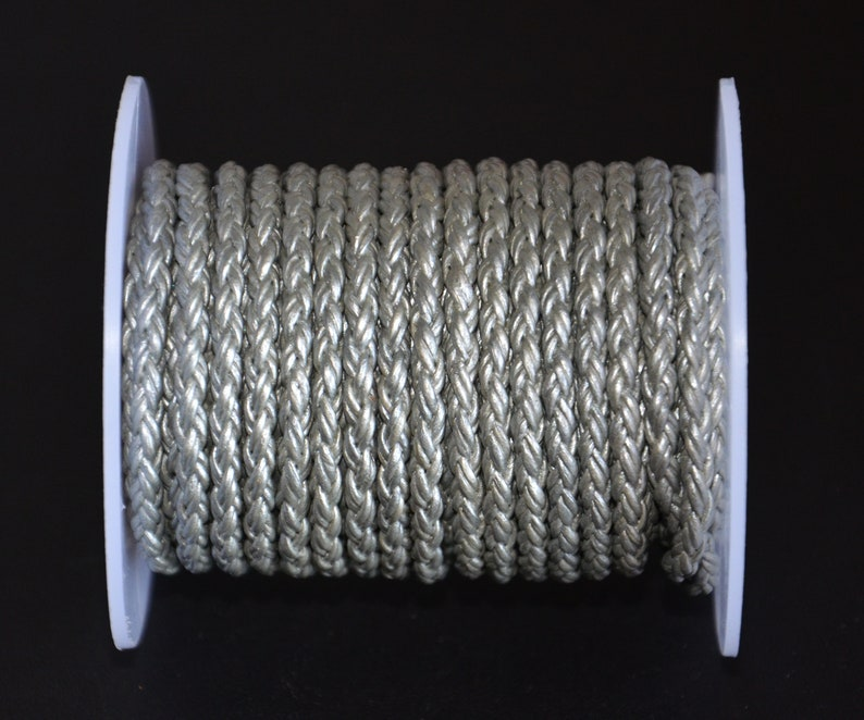 4mm diameter 1.0mm*8 silver gold copper braided leather cord-high quality leather cord-leather thread-jewelry making leather cord