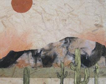 "Art. Landscape. ""Sunrise, Sunset"" mixed media on canvas, 11"" x 14"" x .5"""