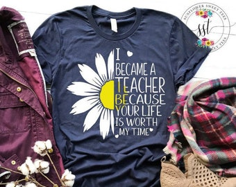 27f63c78372 Teacher t shirts