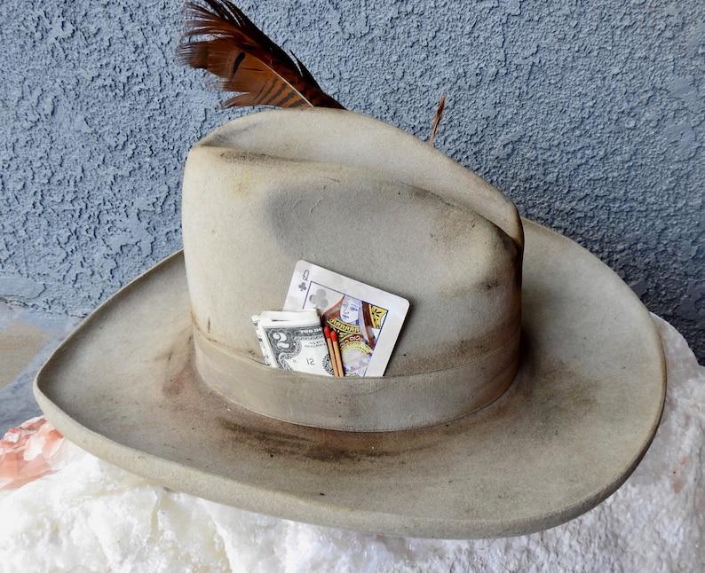 136dd8e74 Distressed vintage western hat