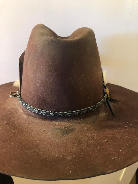 Vintage, distressed western hat - image 1