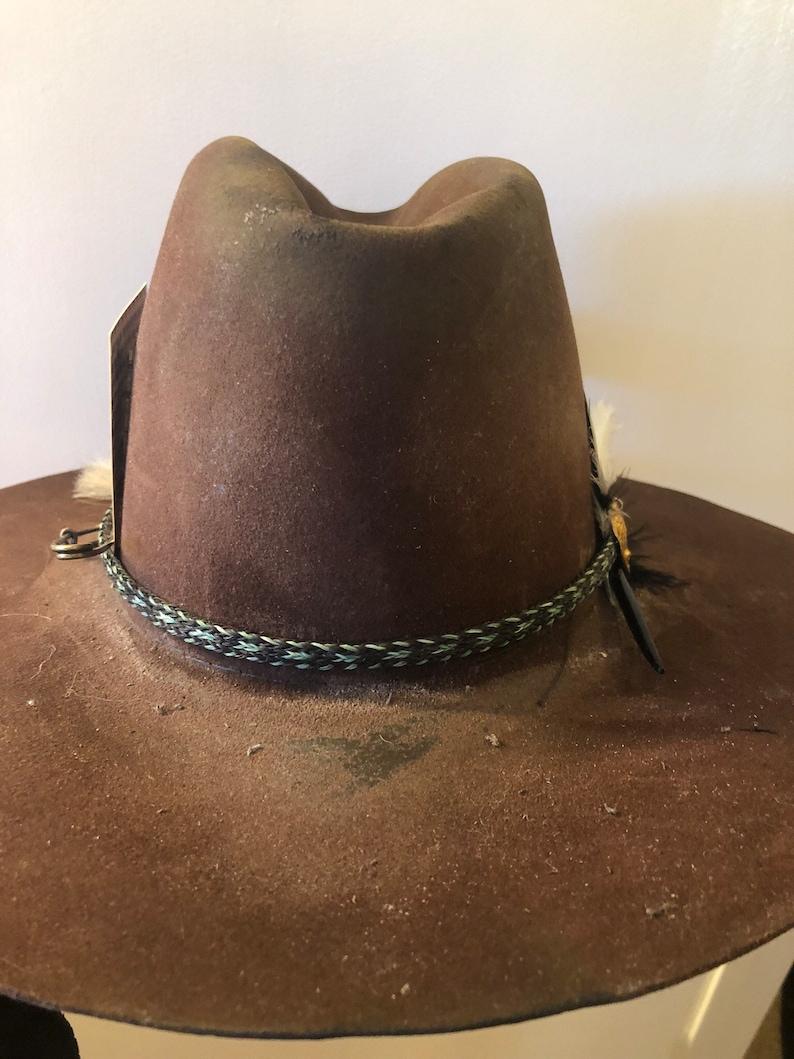 1f1695ed0 Vintage, distressed western hat