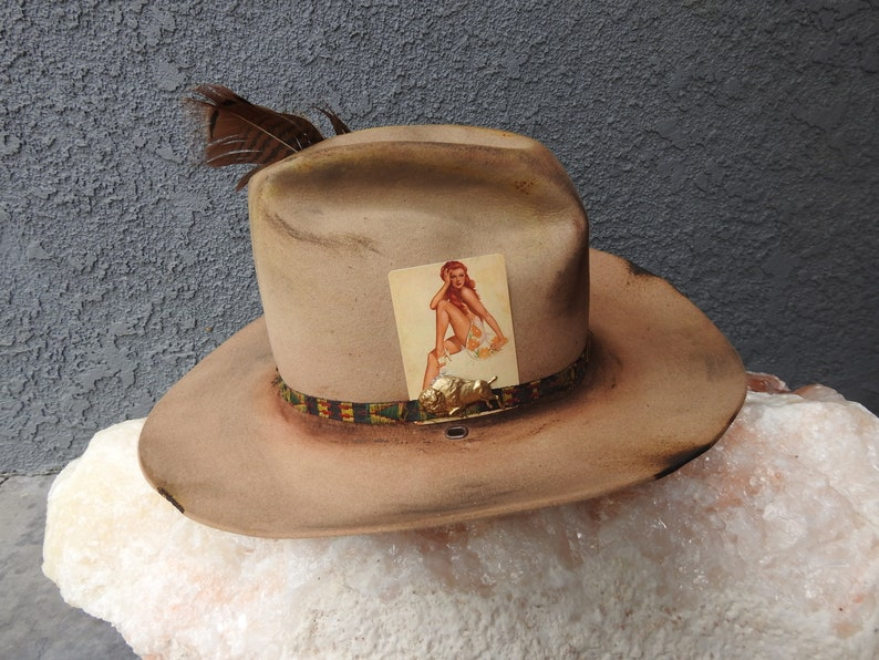 8edd7332 Distressed Stetson hat | Etsy