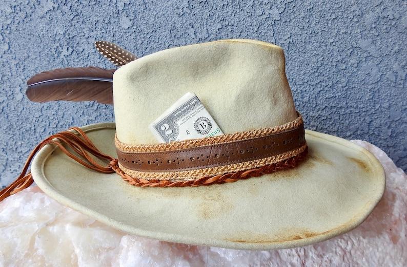 6d6db3683 Vintage distressed cowboy hat