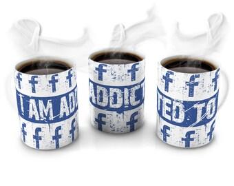 I am addicted to Facebook Novelty Mug Birthday Gift