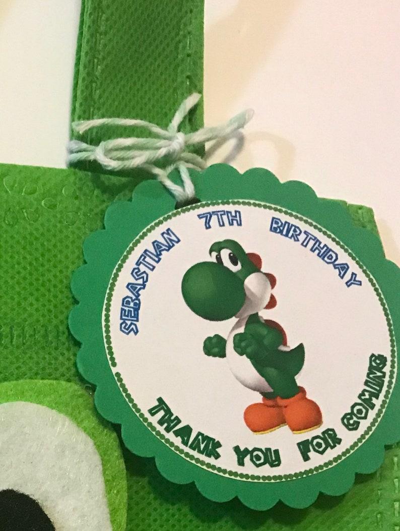 Mario Party Goodie Bags Princess Peach Set of 12 Mario Bros Favor Bags with Personalized Thank You Tags Luigi Mario Birthday