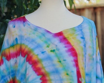Ice Dyed, Summer Tunic - Summer Tunic - Cover up - One Size - Plus