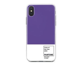iPhone/Galaxy/LG 2018 pantone color ultra violet TPU clear cell phone case cover