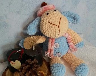 Сrocheted lamb crochet toy soft yarn fiberfill amigurumi