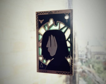 Harry Potter Pin Jewelry Hard Enamel Severus Snape Stained Glass Lapel Wizard Hogwarts Pin Brooch Limited to 100 only!