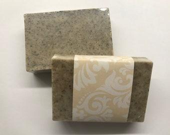 Organic Oatmeal Lavender Soap - Exfoliant - Home Made - Essential Oils - Organic Shea Butter - Organic Coconut Oil  - Lavender Petals