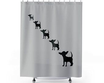 Chihuahua Shower Curtain Bath Decor Bathroom Set Dogs Home Dog