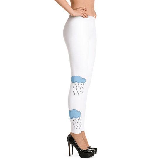 03ed7596a1d27 Womens Rain Cloud Leggings Designer Rainy Days Fashion Girls Clothing Gift  for Her