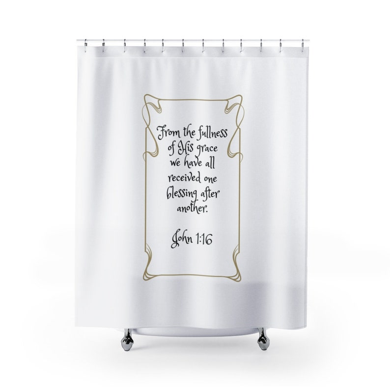 Scripture Shower Curtains Inspirational Bible Verse