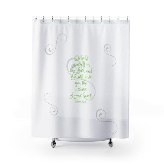 Scripture Shower Curtain Bible Verse Bath