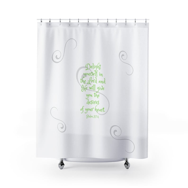 Scripture Shower Curtain Bible Verse Shower Curtain Bible Bath Set  Inspirational Shower Curtain Christian Shower Curtain Bath Decor Faith