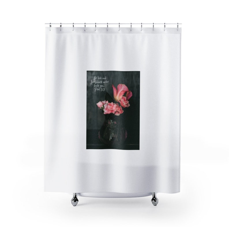 Scripture Shower Curtain Bible Verse Bath Set Christian