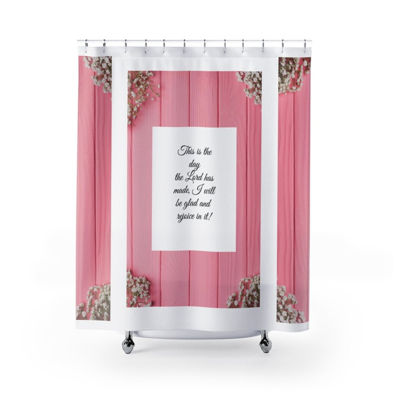 Scripture Shower Curtain Christian Bible Verse