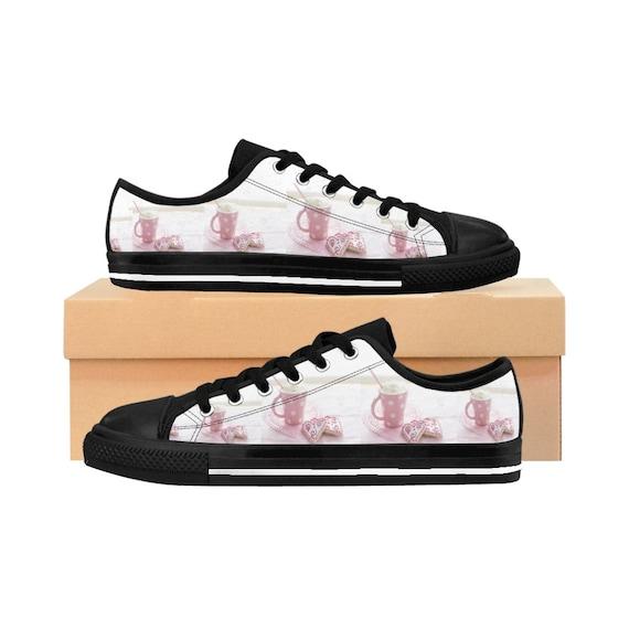 Pink Cookie Sneakers Womens Polka Dot
