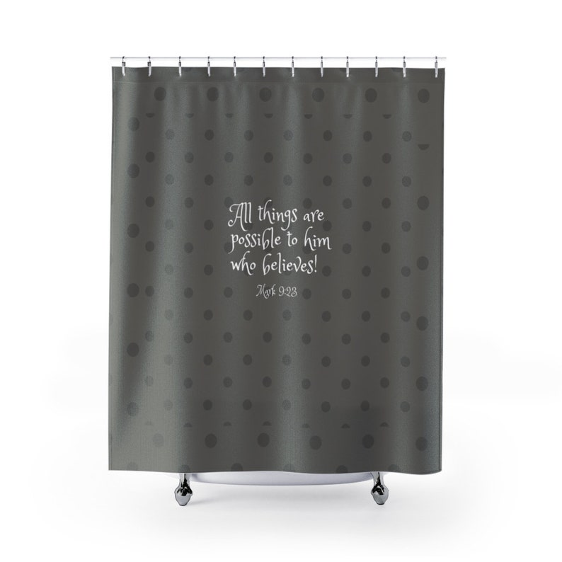 Bible Verse Shower Curtain Christian