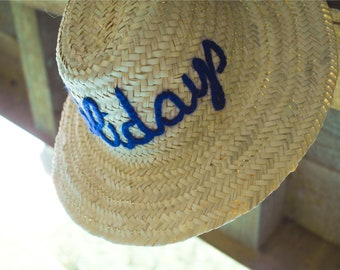 0209cd4334e Personalized Straw Hat Traditional 100% Natural Palm Leaf