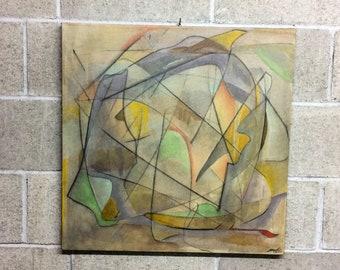 Mixed technical Framework on 60x60 canvas