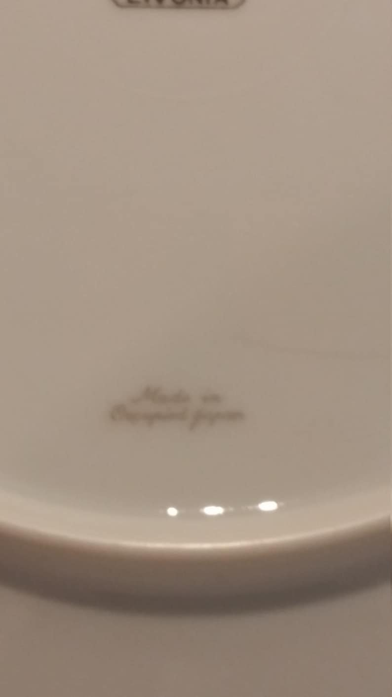 made in Occupied Japan Livonia by Meito Dinner Plate