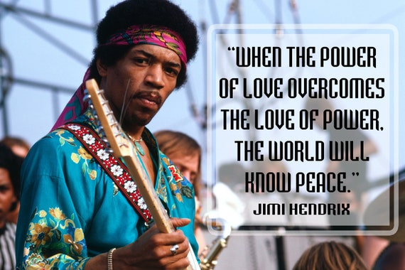 Jimi Hendrix Quote Poster Music Quotes Cool Posters Teaching Growth Mindset  Decorations Classic Rock Décor Black Decoration Learning P039