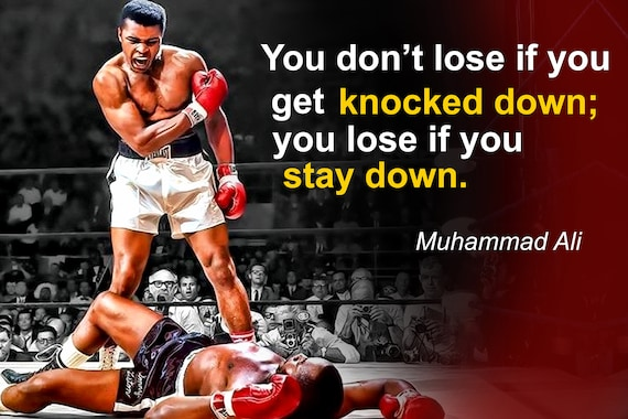 MUHAMMAD ALI POSTER  Boxer Quote Great Motivational Wall Art Print A3 A4 FRAMES
