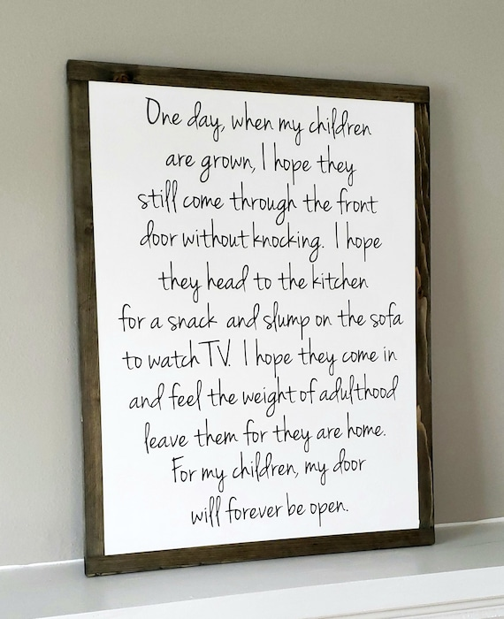One Day When My Children Are Grown Framed Sign|Gift for Mom|Christmas  Present|Rustic Farmhouse decor|Family Quotes|Parent\'s love|Entryway