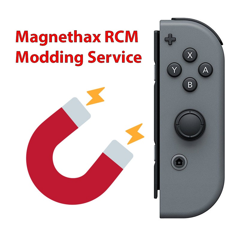 Nintendo Switch RCM Joy-Con Magnethax Service (safe and no damage unlike a  jig)