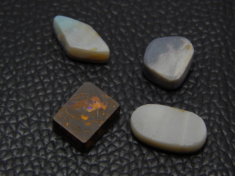 Australian Doublet Opal Gemstone Natural Loose Cabochon Mixed Shape Good Quality