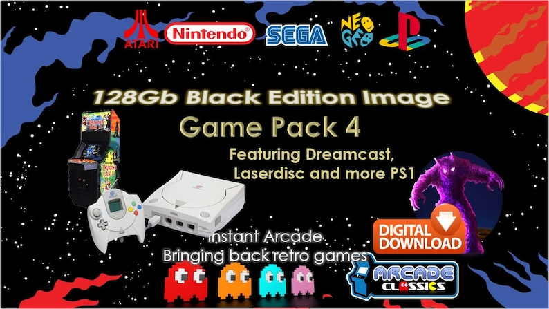 RetroPie 128Gb Black Edition Image (download) - NEW Latest Version from  InstantArcade for Raspberry Pi