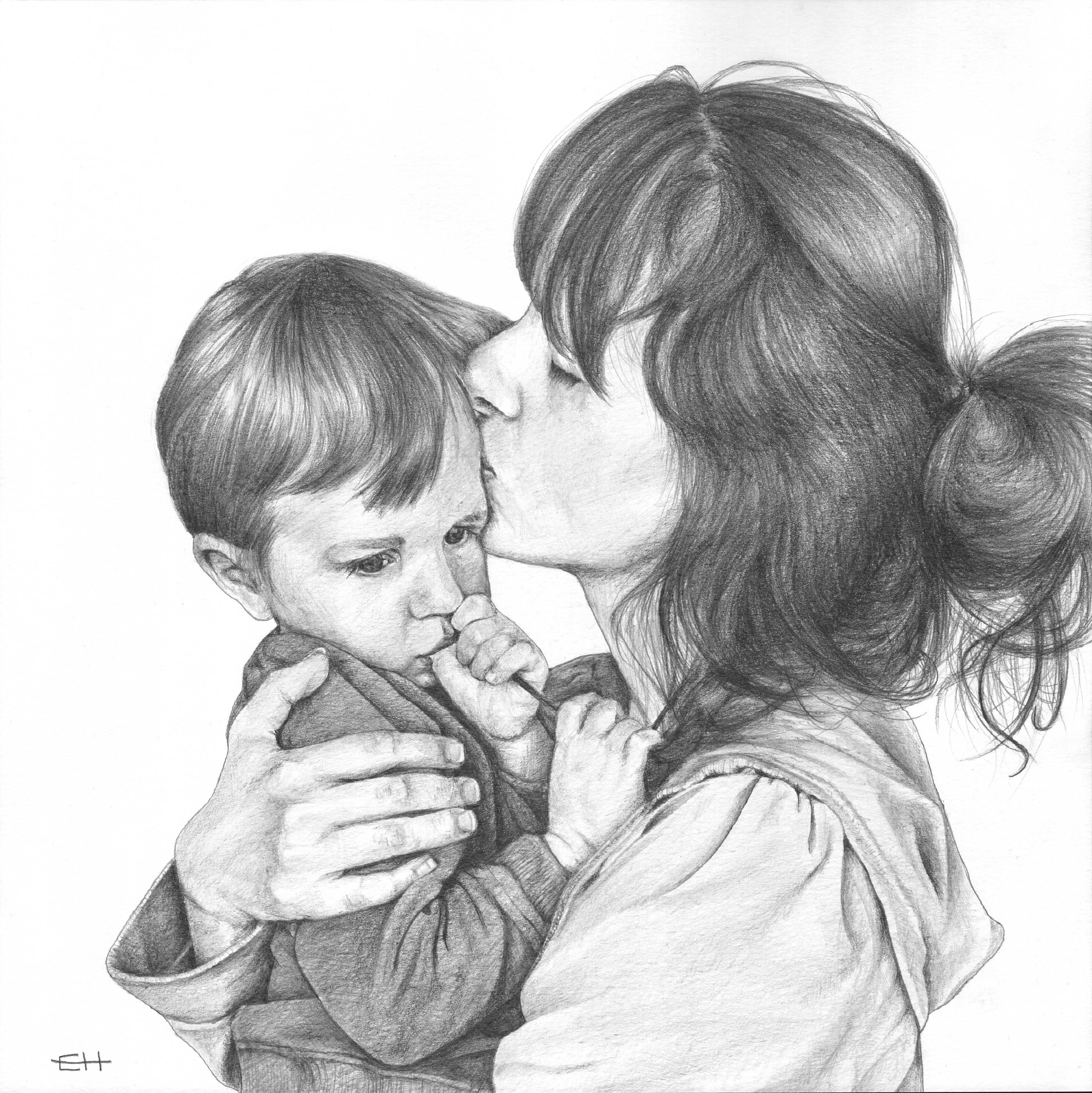 Custom pencil portraits of loved ones from your photos black and white portraits pencil portraits pencil drawings personal gift ideas