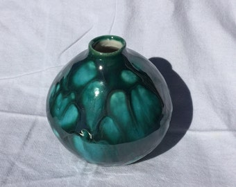 Molten Green Vase