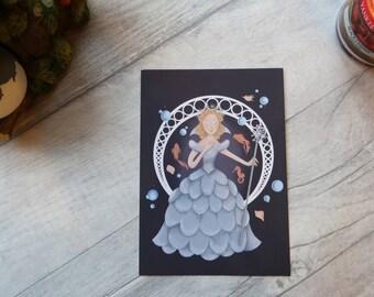 Glinda the Good Witch (Oz/Wicked) art print postcard