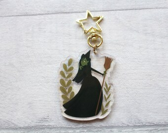 Elphaba Wicked Witch Of The West (Oz/Wicked) holographic acrylic keychain