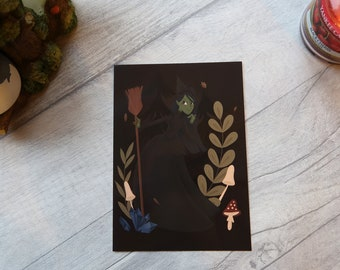 Elphaba The Wicked Witch of the West (Oz/Wicked) art print postcard