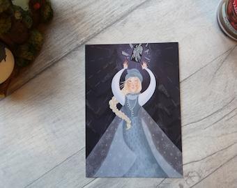The Snow Queen art print postcard - original illustration